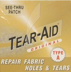 Tear-Aid is watertight and airtight adhesive repair tape marketed for use in repairing outdoor products. Leather Furniture, Leather Sofa, Trendy Furniture, Leather Repair, Home Repair, Cool Tools, Website, Cleaning Hacks, Things That Bounce