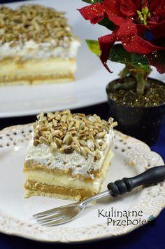 Ciasto bez pieczenia z masą krówkową, Ciasto bez pieczenia z masą krówkową i prażonym słonecznikiem