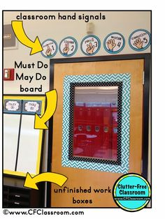 Clutter-Free Classroom: Classroom Door Decor {Classroom Design Photos, Set Up Pictures & Ideas, Organization & Management}