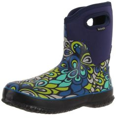 Bogs Womens Classic Mid Vintage Waterproof BootNavy Multi6 M US *** Click on the image for additional details.