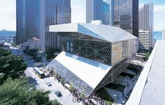 I absolutely love this building in person. Seattle Public Library