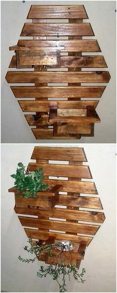 pallet wall planters designs