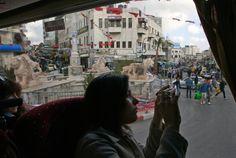 Photo: Rina Castelnuovo for The New York Times. Manara Square in Ramallah, West Bank.