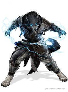 Werewolf comm by YamaOrce on DeviantArt