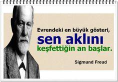 Evrendeki en büyük gösteri, sen aklını keşfettiğin an başlar. Infj Infp, Intp, Psychology Quotes, Sigmund Freud, Carl Jung, Humor, Education Quotes, Karma, Motivation