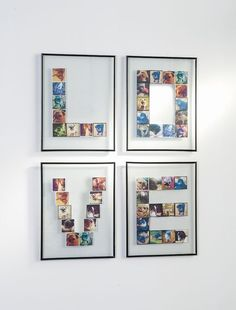 I'm going to show you how to make personalized wall art using your Instagram photos . . . and you can make it using any word that you like!