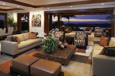 Style: tropical; How gorgeous is this? I love the beiges and browns.  And what a view!