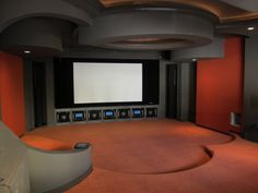 Artful private home theater in Florida, fabric walls and acoustics by Acoustic Finishes.  www.acousticfinishes.net Guilford of Maine-Anchorage fabric