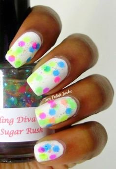 This girl makes her own nail polish!!  <3  --  Sugar Rush Nail Polish. $8.00, via Etsy.