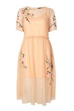 Embroidered Mesh Midi Dress - Dresses - Clothing - Topshop USA