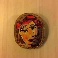 #fabricbrooch #pin  #artbrooch  #textilebrooch #brooch painting #handpaintedbrooch #stylishaccessories #wearableart #Picasso  #NatashaArtDolls