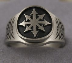 Chaos ring Star Of Chaos 8 Pointed Star ring all sizes