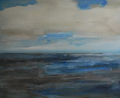 Anticipating rain, schilderij van Cora Heerkens   Abstract   Modern   Kunst