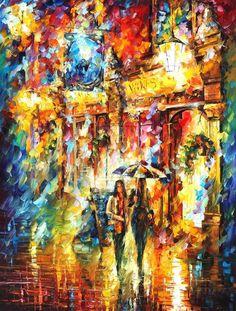 Best Friends in the City by Leonid Afremov by Leonidafremov on deviantART