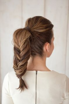 Fun braided ponytail: http://www.stylemepretty.com/living/2015/05/01/best-hairstyles-for-mom-at-any-age/