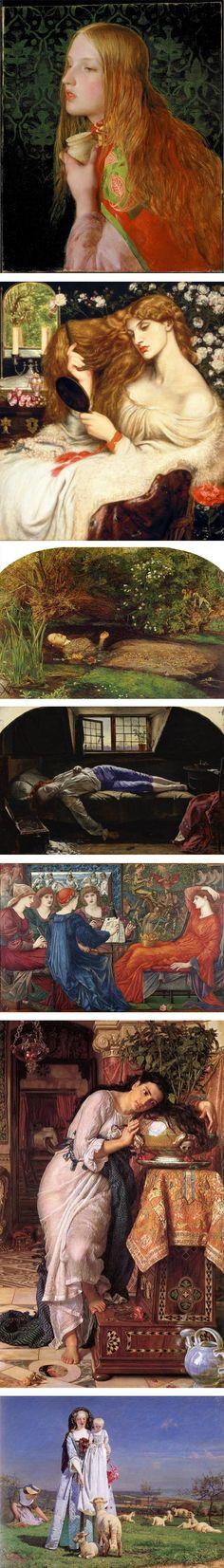 Pre-Raphaelites: Victorian Avant Garde: Frederick Sandys, Dante Gabriel Rosetti, Sir John Everett Millais, Henry Wallis, William Holman-Hunt, Ford Maddox Brown