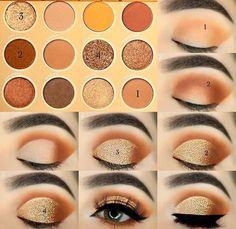 Christmas Eyeshadow Looks - Olivia Gonzalez Eye Makeup Steps, Makeup Eye Looks, Eye Makeup Art, Eyebrow Makeup, Skin Makeup, Eyeshadow Makeup, Colourpop Eyeshadow Palette, Elf Makeup, Drugstore Makeup