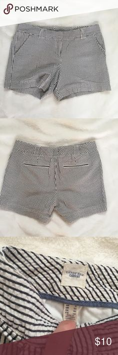 Seersucker shorts EUC never worn! Lands end canvas seersucker shorts. Lands end canvas brand. Lands' End Shorts