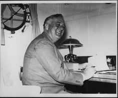 Franklin D. Roosevelt in the admiral's cabin onboard USS Houston in National Archives and Records Administration Photo Franklin Roosevelt, Uss Houston, Nightmare Night, Presidential History, Charleston South Carolina, National Archives, Us History, Wwii