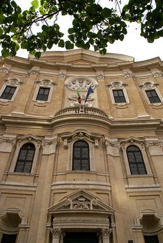 Rom, Piazza della Chiesa Nuova, Oratorio dei Filippini von Borromini (Oratory of St. Philip Neri)