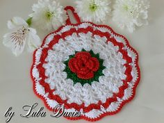Ravelry: ROSE potholder pattern by Crochet- atelier