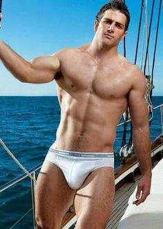 Australian rugby player John Williams doin a bit of sailing in his tighty whities! ;P