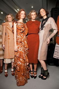 Rodarte at New York Fashion Week Fall 2012 - Backstage Runway Photos