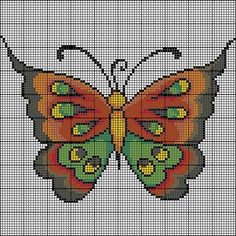 Free Butterfly Cross Stitch Patterns | CROSS STITCH BUTTERFLY PATTERNS « Free Patterns