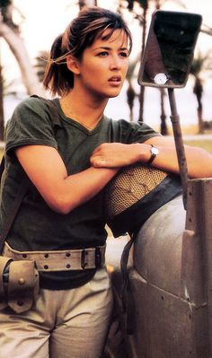 Sophie Marceau in Pour Sacha directed by Alexandre Arcady, 1991 Catherine Deneuve, Sophie Marceau Photos, Star Francaise, Jenifer Aniston, Bond Girls, Military Women, Good Looking Women, French Actress, Showgirls