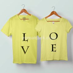 Love Couple Tshirt size S to 5XL