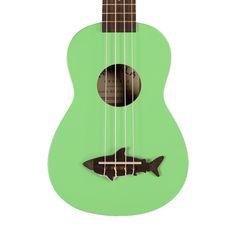 Makala Shark Soprano Ukulele - Surf Green