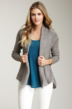 CK Jeans Open Hi-Lo Hem Shawl Cardigan by Non Specific on @HauteLook