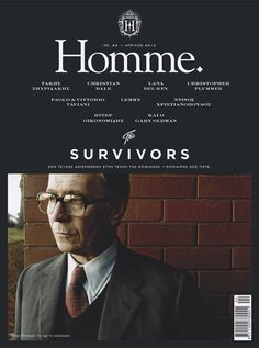 Homme Magazine No.94 by Manos Daskalakis, via Behance