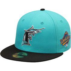 dfe371a96c5 Florida Marlins New Era World Series Wool 59FIFTY Fitted Hat - Aqua. Marlins  Baseball59fifty HatsAquaWorld SeriesMiami ...