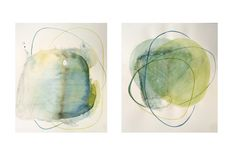 My Heart Leaps by Judy McSween on Etsy Minimalism Art, Abstract Watercolor, Impressionist, Original Artwork, Art Projects, Emerald, The Originals, Amazon, Yellow