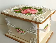 Edible Cookies, Cookie Box, Fancy Cookies, Beautiful Desserts, Buttercream Flowers, Sugar Art, Royal Icing, Cake Designs, Amazing Cakes