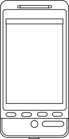 amazing Cell Phone printable Coloring Pages for kids boys and
