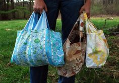 turn a pillowcase into a shopping tote.  I think I will do this.  The amount of extra pillowcases, and old plastic shopping bags in my house..sicken me. THIS will solve both my problems!