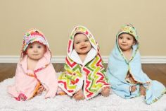 scrappy happy hooded towels