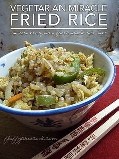 Low Carb Miracle Rice - Vegetarian Fried Rice