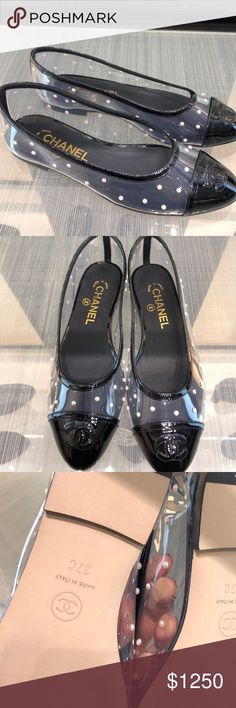 Authentic Chanel Clear Vinyl loafers with pearls Authentic Chanel Clear Vinyl loafers with pearls CHANEL Shoes Flats & Loafers