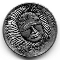 Steve Ellsworth - Tuvaaq Hobo Nickel, Coins, Carving, Buffalo, Art, Art Background, Rooms, Wood Carvings, Kunst