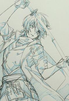 """I'm with the okami's royal guard"" Anime Drawings Sketches, Anime Sketch, Manga Drawing, Manga Art, Art Drawings, Anime Art, Pencil Drawings, Hipster Drawings, Drawing Reference Poses"