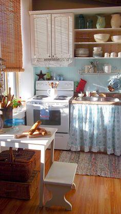 В одной из тем форума зашла речь о шторочках на нижних шкафах кухни взамен классическим дверкам. Вообще-то первичными в кухнях, ванных комнатах, чуланах и подсобных помещениях были как раз таки за …