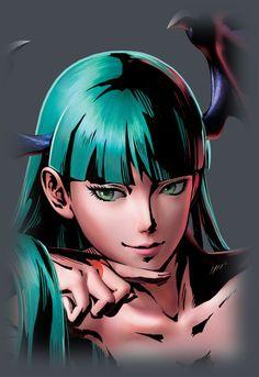 Darkstalkers - Morrigan by Shinkiro *