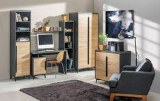 Nowoczesna prostota. Komodo, Corner Desk, Divider, Room, Furniture, Home Decor, Corner Table, Bedroom, Decoration Home
