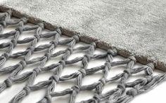 Fringes tæppe - Pearl + Grey