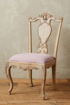 Anthropologie Handcarved Tassel Side Chair #anthrofave