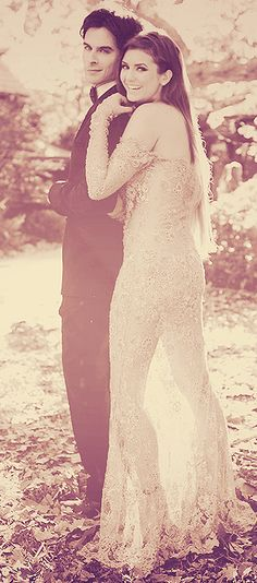 Damon (Ian Somerhalder) & Elena (Nina Dobrev) I don't know where this was taken...but its beautiful!