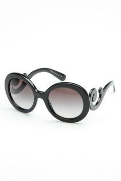 Prada Genoa Sunglasses In Black & Gray Gradient